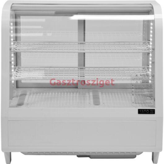 Üveges hűtőszekrény 100l-es 68x45x67cm