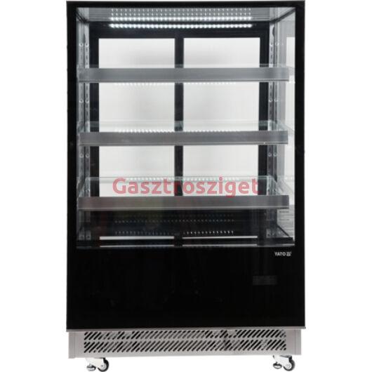 Üveges hűtőszekrény 400l-es 90x80x144cm