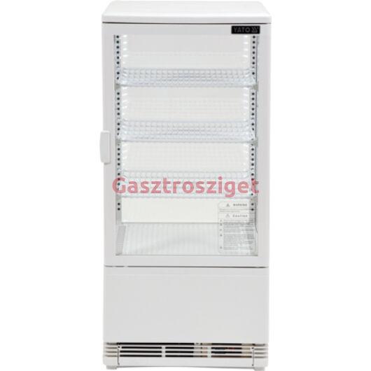 Üveges hűtőszekrény 78l-es