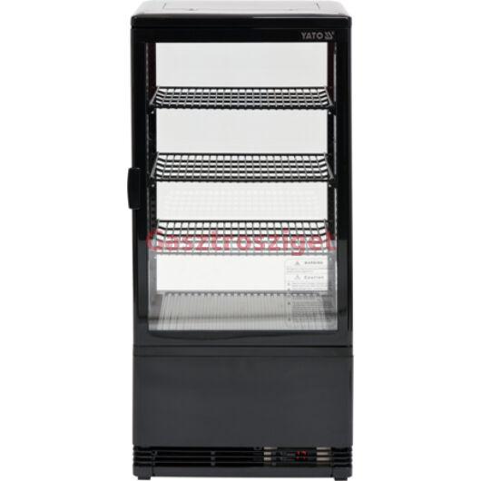 Üveges hűtőszekrény 78l-es 42x38x96cm