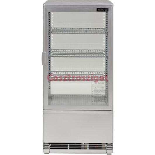 Üveges hűtőszekrény 78l-es 42x38x96cm szürke