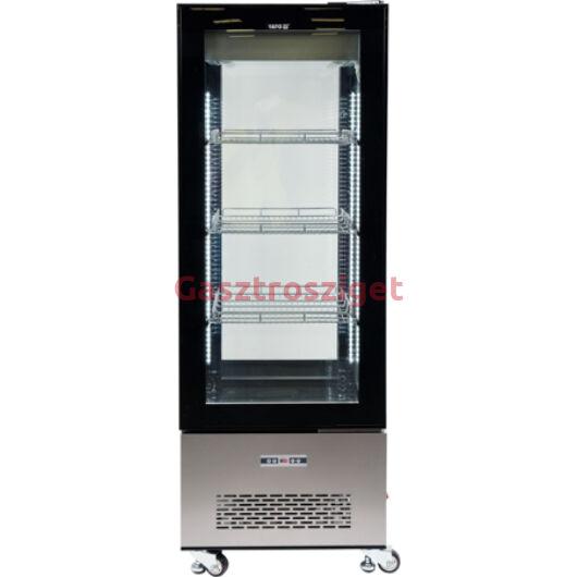 Üveges hűtőszekrény 400l-es